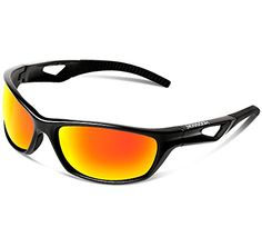 607c7d7166 HODGSON Sports Polarized Sunglasses for Men or Women Protection Unbreakable  Sports Glasses for Cycling Baseball Riding Driving Running Golf and Other  ...
