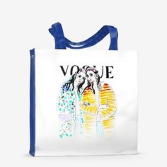 Vogue fashion illustration print watercolor