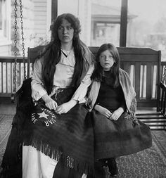 "Mother and daughter who survived the sinking of the Titanic. Her husband did not make it. They were from England and made it to New York where they ended up staying because she could not bear to go over the area where her beloved was ""sleeping"".   From a letter: ""Oh mother I haven't a thing in the world that was his only his rings. Everything we had went down. Will you, dear mother, send me on a last photo of us, get it copied I will pay you later on."""
