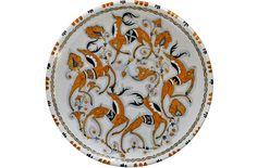 Orange Plate with Dancing Deer, Orvieto