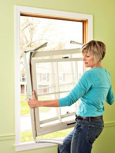 How to Remove and Replace Old Windows Remove the old sashes and jamb liner as a single unit. Ask a helper for assistance with larger windows. Use proper lifting techniques to avoid back injuries. home improvement Home Improvement Loans, Home Improvement Projects, Home Projects, Diy Window Replacement, Glass Replacement, Installing Replacement Windows, Home Renovation, Home Remodeling, Window Inserts