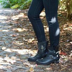 Fiorentini and Baker Eli Black Short Buckle Boot for Women