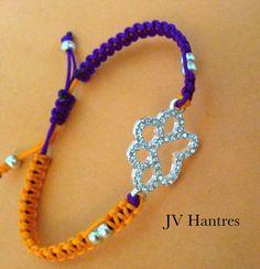 Clemson Tigers Game Day Bracelet / Rhinestone/Orange and Purple - 1 on Etsy, $14.00