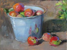 MARTHA LEVER - Work Zoom: apples in bucket