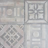Petali Grigio - This Reproduction line of Cement tiles is ideal for demanding, high-traffic commercial areas or homes because of their innate durability and extremely low maintenance.