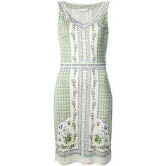 TORY BURCH botanical print sleeveless dress (12.695 RUB) found on Polyvore