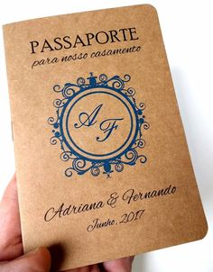 Convites Casamento Criativos Passaporte   R$29 Cada 10 Unid - R$ 29,00