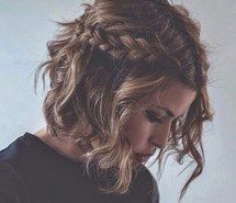 Inspiring image blonde, braid, curl, curls, curly, fashion, girl, hair, hairstyle, highlights, light brown, pretty, short hair, style, wawes, promhair, beach wawes #2507648 by saaabrina - Resolution 500x500px - Find the image to your taste