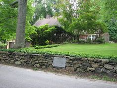 Jacob Gilbert house site at what is now 72 Main Street, South Salem, NY. Major John Andre was kept prisoner here for a few days in Sept. 1780.