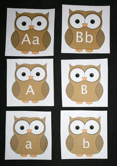FREE Owl-themed Alphabet cards.  Includes covers to make Itty Bitty booklets + a tip sheet of games and other things you can do with the cards. Use them for assessments for Common Core Alphabet Recognition Standards.