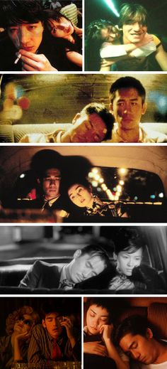 Because the sincerest thing one could do is sleep on the other's shoulder. (Wong Kar Wai photoset: Fallen Angels, Happy Together, In the Mood for Love, 2046, Chungking Express)