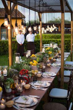 Depois do welcome dinner, May e Rene promoveram uma deliciosa noite italiana, que aconteceu no jardim do hotel com assessoria de Babi Leite.