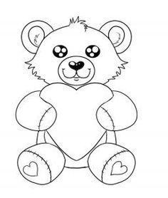 how to draw a valentines day heart bear step by step valentines seasonal