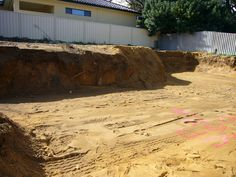 Karrinyup - 2408 - Site - earthworks before slab down on a rear strata, small & difficult block