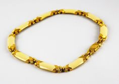 Vintage Monet Necklace- Goldtone Monet Necklace- Circa 1950- Monet White and Gold- Gift for her- Valentines Da- Christmas Gift- Wife Gift