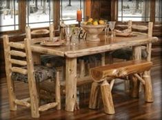 LOG CABIN FURNITURE, LOG FURNITURE, RUSTIC FURNITURE, LOG CABIN HOME ...    tennesseewebstore.com