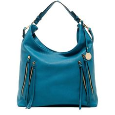 Urban Expressions Meadow Vegan Leather Hobo ($50) ❤ liked on Polyvore featuring bags, handbags, shoulder bags, teal, urban expressions handbags, teal handbag, blue handbags, long strap purse and hobo shoulder handbags