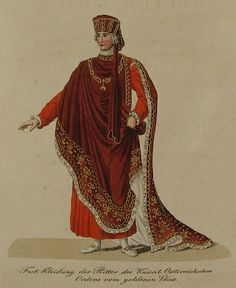 Austria, Golden Fleece Order, robe illustration, 1820, Vienna.