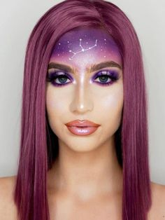 Pearly Purple Bob Lace Front Wig - Synthetic Wigs - BabalaHair Short Lace Front Wigs, Synthetic Lace Front Wigs, Synthetic Wigs, Purple Bob, Purple Hair, Turquoise Hair, Purple Makeup, Green Makeup, Messy Bob Hairstyles