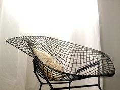 Vintage Bertoia Diamond Chair (black) - My new accent chair :)