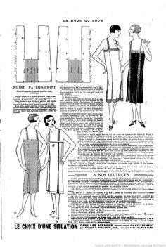 An interesting 1920's lingerie pattern variation (box pleats!).