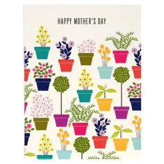Mom Flower Pots Card by Snow & Graham