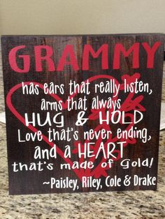 Would make my mom/mom-in-law a sign like this to announce my pregnancy