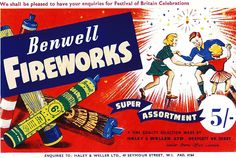 Benwell Advert-Super Assortment ~ 1951 Bonfire Night Guy Fawkes, Vintage Fireworks, Snap Crackle Pop, Firecracker, Fourth Of July, Crackers, November, Boxes, Posters
