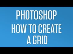 How to Create a Quick and Easy Grid in Photoshop - Photoshop Quick Tip - YouTube