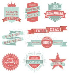 Banners & Ribbons royalty-free stock vector art