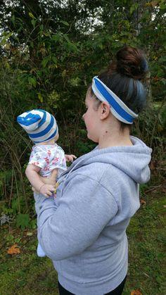 Slouchy Beanie & Headband set matching by MountainPeakBoutique