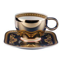 VERSACE ROSENTHAL MEDUSA COMBI CUP AND SAUCER x 6. NIB.