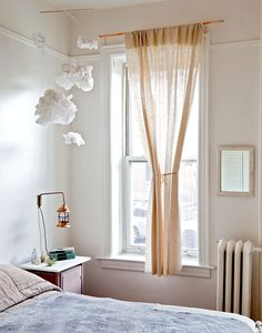 brooklyn townhouse by nightwood NY / paper cloud mobile Noguchi Coffee Table, Cloud Mobile, Turbulence Deco, Deco Addict, My Happy Place, My Room, Decoration, Beautiful Homes, Living Spaces