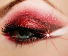 Red Fire Eye Makeup... pirate makeup