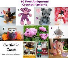 10 Free amigurumi crochet patterns roundup http://crochetncreate.com/10-free-amigurumi-crochet-patterns/ #crochetncreate #freecrochetpatterns