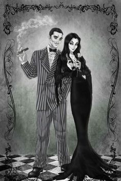 Yeeeaaah, it's Halloween! I saw the Addams family movie, both the first and second one ab. Gomez and Morticia