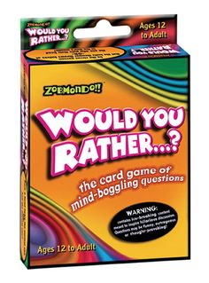Zobmondo Would You Rather Classic Card Game, Trading Card Games - Amazon Canada