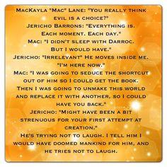 "MacKayla ""Mac"" Lane and Jericho Barrons (Shadowfever - Fever Series)"