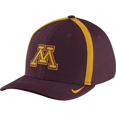 Nike Men's Minnesota Golden Gophers Maroon Aerobill Swoosh Flex Classic99 Football Sideline Hat, Size: S/M, Team
