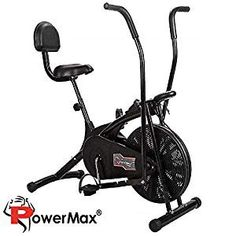Fitness Air Bike Exercise Cycle With Back Support India Air Exercycle Could Also Be a Stationary Cycle. That Conjointly Provides a Full-body Effort. Cycling Workout, Gym Workouts, At Home Workouts, Best Exercise Bike, Exercise Cycle, Indoor Gym, Workout Machines, Exercise Machine, Burn Calories