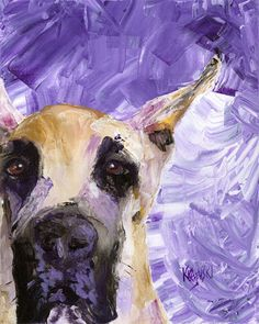 Great Dane Art Print of Original Acrylic Painting  by dogartstudio