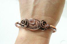 'Picture Jasper Copper Bracelet' is going up for auction at  8pm Wed, Jun 20 with a starting bid of $16.