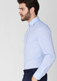 Slim: shirt with an all-over print in the s.Oliver Online Shop