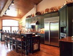 traditional kitchen by Sharon Flatley Design Decorating Above Kitchen Cabinets, Kitchen Decor, Kitchen Ideas, Kitchen And Bath Design, Big Houses, Traditional Kitchen, My Dream Home, Home Kitchens, Kitchen Remodel