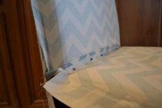 DIY Parsons chair slipcover tutorial