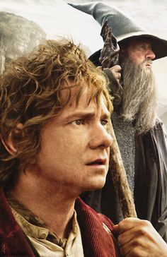 "Bilbo Baggins and Gandalf in ""The Hobbit:  An Unexpected Journey"""