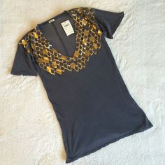 NWT Monrow tee New with tags and in perfect condition semi sheer and very sof. It has and worn look to it but it came that way bundle for a better price! Monrow Tops Tees - Short Sleeve