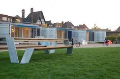 Sleeping Around is a portable hotel comprised of shipping containers that's small enough t...