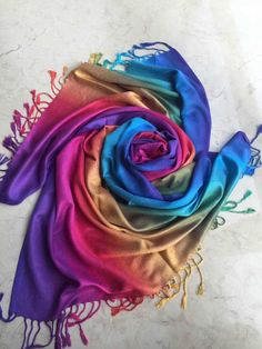 Soft Cotton Blend Long Scarf-Wrap-Shawl - Free UK Delivery