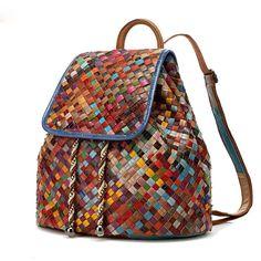 Details about Women Genuine Leather Shoulder Backpack Braided School Bag Travel Rucksack - Frauen Schuh und Tasche Latest Bags, Shoulder Backpack, Shoulder Bags, Satchel Handbags, Backpack Bags, Weekender Bags, School Bags, Fashion Bags, Fashion Women